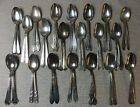 Vintage Silverplate 40 Oval Soup Spoons Place Dessert Spoon Craft Lot VGUC!