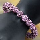 10mm Czech Crystal Rhinestones Pave Clay Round Disco Ball Stretchy Bracelet