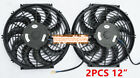 12 INCH UNIVERSAL 12V PULL PUSH CAR SLIM RADIATOR ENGINE COOLING FAN+MOUNTING