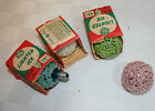 Vintage 4 Cool Burning Decorative Lamps LIGHTED ICE BULBS LN red blue green clea