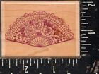 Stamp Oasis Wood Mounted Rubber Stamp Victorian Fan