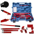 10 Ton Porta Power Hydraulic Jack Air Pump Lift Ram Body Frame Repair Tool Kit