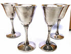 Vintage Silver Plated Italy 4 x Goblets