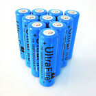 10pcs High Power Recharge 18650 Battery 3.7v Li-ion Blue Rechargeable Batteries