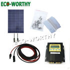 100Watt Solar Panel W MPPT Controller  Bracket for RV Boat 12V Battery Charge