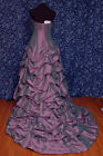 Forever Yours 47110 Lavender Taffeta Strapless Pick-ups Bridal Dress 8 NWT