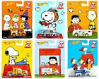 2014 Hot Wheels Pop Culture Peanuts Set of 6 1:64 Scale Diecast Vehicles!