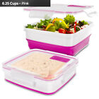 Cool Gear Expandable Food Storage Pink White 1959