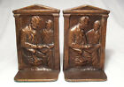 Son Tad Solid Cast Iron Antique Bookends in Nice Condition/circa 1922