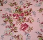 Music Collection BTY April Cornell FreeSpirit Floral Rose Blue Medium Dusty Pink