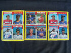 3 1986 Topps baseball uncut wax pack box bottom panels - Rose, Valenzuela, Fisk