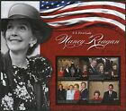 PALAU 2016  NANCY REAGAN, US FIRST LADY, SET OF TWO  SHEETS  MINT NH