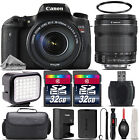 Canon EOS Rebel T6s Wifi Camera 760D + 18 135mm STM Lens + LED + Case 64GB Kit
