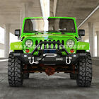 Front Bumper Built In LED Lights with Winch Plate for 07 17 Jeep JK Rock Crawler