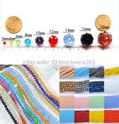Wholesale 4 6 8 10MM Bicone Faceted Rondelle Crystal Glass Loose Spacer Beads