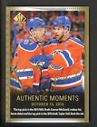 2015-16 SP Authentic Moments Taylor Hall Connor McDavid RC AUTO Oilers