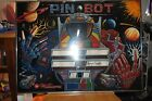 PIN BOT WILLIAMS ORIGINAL 1986 autographed by designer and framed by the artist