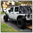 4PCS 2007-2016 Jeep Wrangler Textured Steel Flat Style Fender Flares Left+Right
