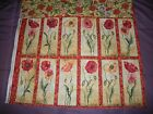 Susan Winget~~ Poppies Floral Panel and Backing~~ 12 Flowers  16 X 21