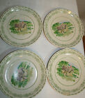 4 PFALTZGRAFF Luncheon PLATES The Circle of Kindness cottage front green ivory