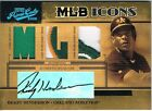 2005 Playoff RICKEY HENDERSON Prime Cuts Icons Patch Jersey Hat Autograph #d 10