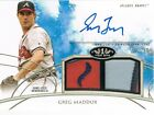 2014 Topps GREG MADDUX # TOARGM Tier One Autograph Dual Relics Patch #d 05 25