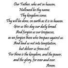 Lords Prayer UNMOUNTED rubber stamp Christian bible verse religious 16