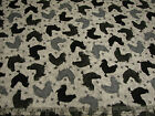 2.6 Yards Quilt Cotton Fabric - QT Bonjour French Country Rooster Black on Gray