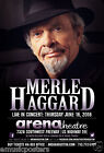 MERLE HAGGARD 2016 HOUSTON CONCERT TOUR POSTER - Country, Western, Outlaw Music