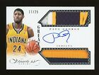 2013-14 Panini FLAWLESS GREATS Paul George DUAL 3-COLOR PATCH AUTO Pacers 25