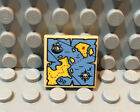 NEW Lego Pirate 2x2 Square Decorated TILE - Tan w/Treasure Map Pattern