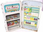 Vintage tin toy fridge atomic space age sty doll house MT Modern