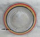 ANCHOR HOCKING BANDED RINGS COLORED SALAD PLATE 8 1/2
