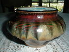 Studio Art Pottery Hand Crafted Blended Volcanic Drip Glaze Bowl - Beautiful