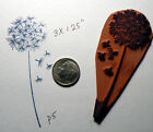P5 Dandelion rubber stamp 35x13 Cling Mounted