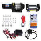 Wireless 4000LBS/1814kg 12V Boat ATV 4WD Electric WINCH Steel Cable W/ REMOTE US