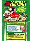 1982 Topps Football Stickers Wrapper Test Issue, Joe Montana 6 x 8