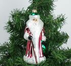 Vintage CHRISTOPHER RADKO Christmas Ornament RUSSIAN SANTA Striped Robe