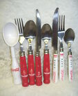 COCA-COLA SPOONS FORKS KNIFES ICE CREAM SCOOP GIBSON STAINLESS SET/ 8