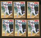 2011 TOPPS HERITAGE MINOR LEAGUE MIKE TROUT RC ROOKIE CARD LOT (6) #44