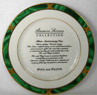 FITZ & FLOYD china GREENWICH pattern Advertising Salad or Dessert Plate 8-1/4
