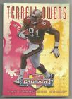 1998 Terrell Owens Donruss Leaf Rookies & Stars CRUSADE RED 19 25 #22 49ers RARE