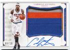 16 National Treasures Carmelo Anthony Colossal 3 Color Jumbo Patch Auto # 10