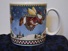 Debbie Mumm - Flying Snowmen Coffee Mug / Snow Angel Village Collection