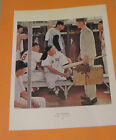 Norman Rockwell THE ROOKIE BOSTON RED SOX 1957 Original Book Pressing Print