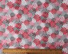 SNUGGLE FLANNEL  FLORAL BURST in PINK  GRAY  100 Cotton Fabric NEW BTY