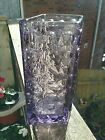 Sklo union, rosice, lilac, amethyst textured knobbly dimple vase