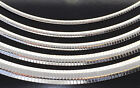 Sterling Silver 925 Omega Chain Necklace High Polished 16 18 20 22 24 Italy