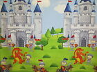 Castle For Knights Little Dragon Northcott Cotton Fabric 20771 74