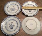Made in China - Rice Flower (Tienshan?) Asian Blue - Bread Plates 9